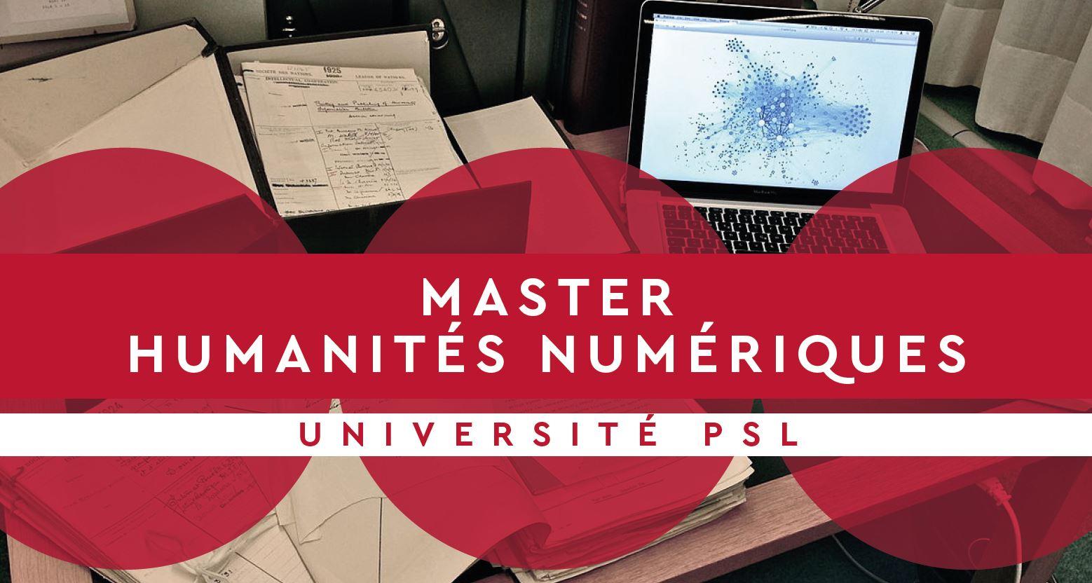 Master «Humanités numériques»