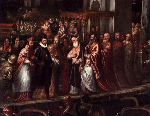 Réception de Henri III au Lido de Venise, par le doge Mocenigo, le 18 juillet 1574, par Andrea Micheli, dit il Vicentino, 1595