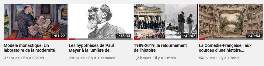 Page YouTube de l'École des chartes