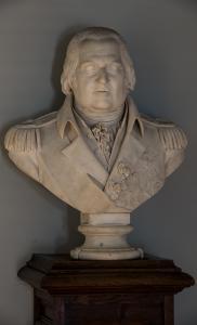 Buste de Louis XVIII dans la bibliothèque