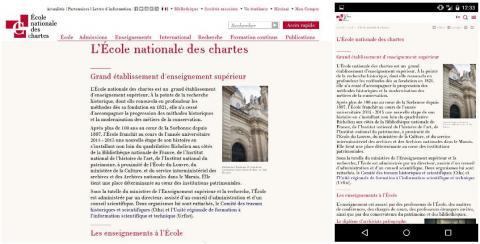 Site responsive Sorbonne