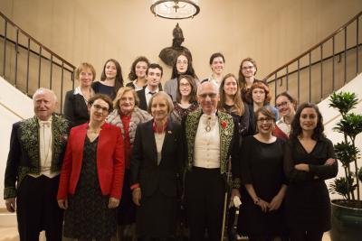 Les diplômés 2016 sous la coupole de l'Institut de France