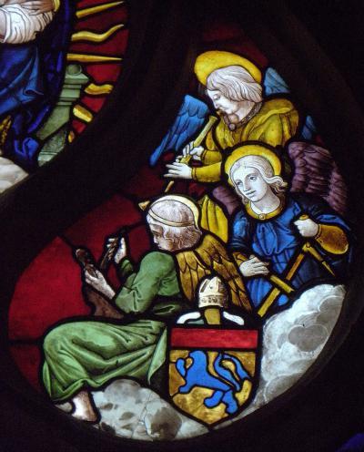 Vitrail de l'arbre de Jessé de l'église Saint-Pierre de Beignon (56)
