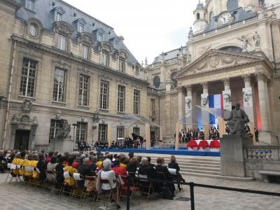 Hommage du monde scolaire et universitaire à Pierre Brossolette, Germaine Tillion, Geneviève de Gaulle Anthonioz et Jean Zay