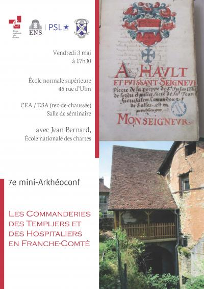 Les commanderies des Templiers et Hospitaliers en Franche-Comté
