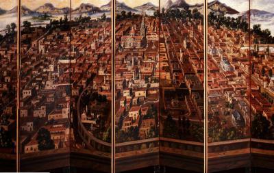 Retable de la ville de Mexico (détail), Diego Correa, 1692, Museo Nacional de Historia, México