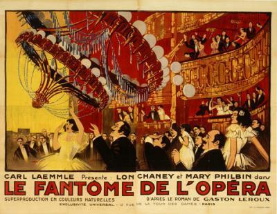 Affiche pour Le Fantôme de l'Opéra, film de R. Julian Vaillant, affichiste,1925