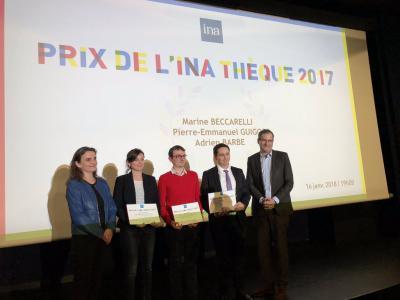 Adrien Barbé (prom. 2017) reçoit le Prix d'encouragement de l'Inathèque