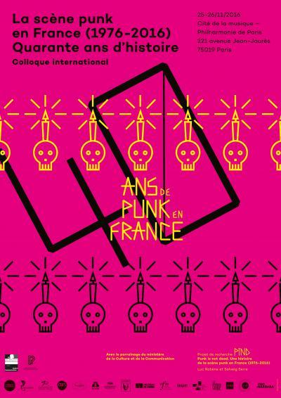 Affiche de la journée «La scène punk en France (1976-2016). Quarante ans d'histoire»
