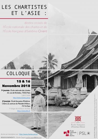 Affiche colloque «Les chartistes et l'Asie»