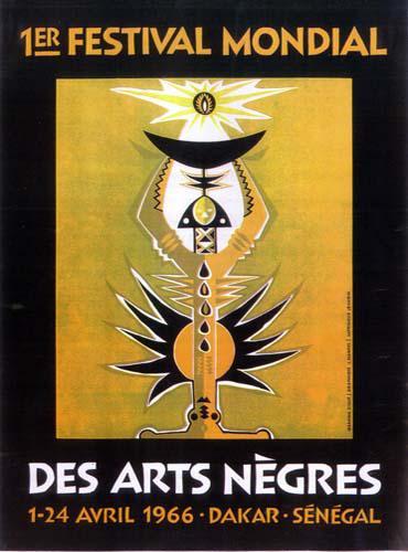 Affiche du 1ᵉʳ festival mondial des arts nègres