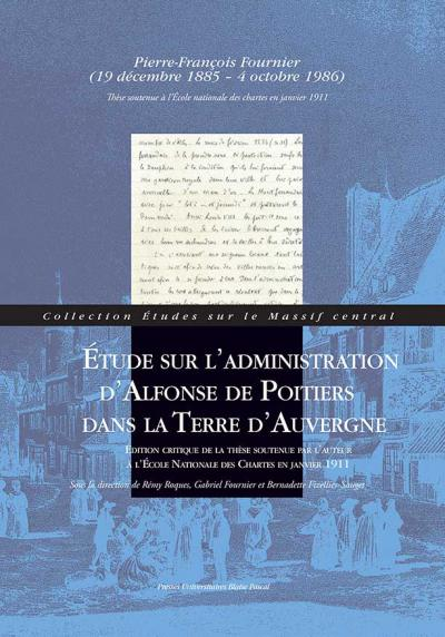 Couverture de l'édition critique de la thèse d'École de Pierre-François Fournier