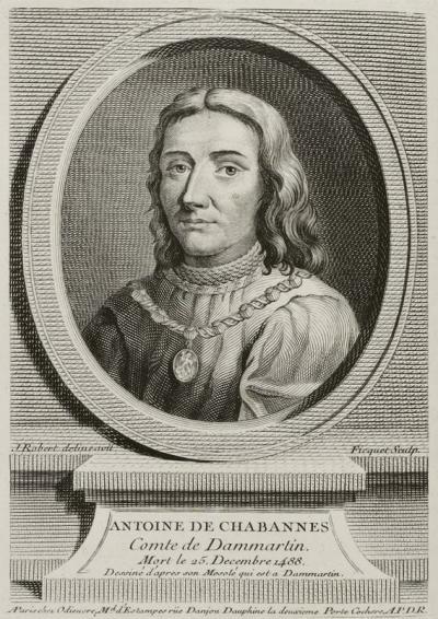 Portrait d'Antoine de Chabannes - Odieuvre (1687-1756); engraver: Étienne Ficquet — Jean-François Dreux du Radier, L'Europe illustrée, t. I, 1755-1765, Le Breton (Paris), p. 322 (Gallica)