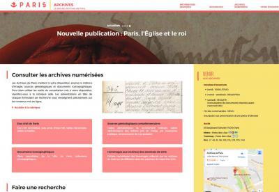 Le nouveau site web des Archives de Paris