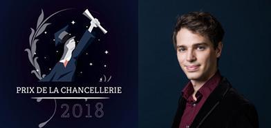 Emanuele Arioli (prom. 2013) reçoit le prix de la Chancellerie de Paris