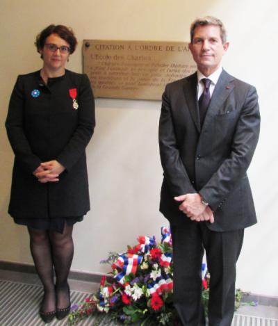 Cérémonie en hommage aux chartistes victimes de la «Grande Guerre»