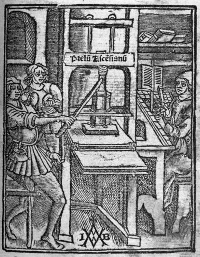 Marque de Josse Bade, extraite de Girolama Savonarola, Expositio in Psalmos Miserere mei Deus