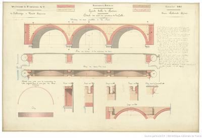 Bibliothèque impériale, salle de lecture des imprimés (attachement de maçonnerie, 1862), source: Gallica