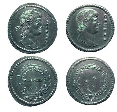 Constantin II, multiple de 4 argent, Trèves, 336