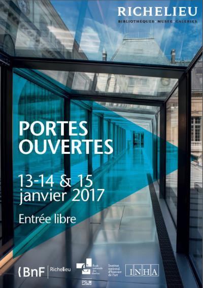 Affiche pour la visite exceptionnelle des espaces rénovés de Richelieu