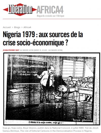 Les étudiants du master d'histoire transnationale publient en feuilleton dans Libération