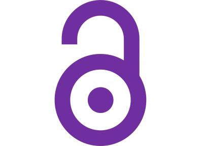 Un des logos du libre accès, d'origine de PLoS (coloré en violet)