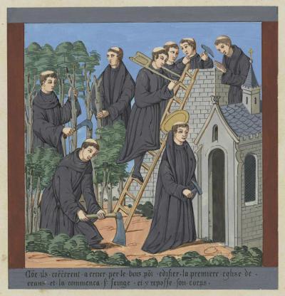 Reproductions des peintures murales de l'église de l'ancienne abbaye de Saint-Seine, par Théodore de Jolimont