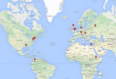 Les élèves de l'École en stage à l'étranger