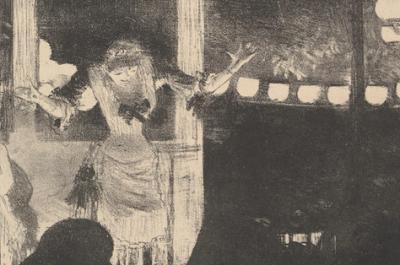 Mlle Bécat au Café des Ambassadeurs, lithographie, Edgar Degas (Paris, 1877–78)