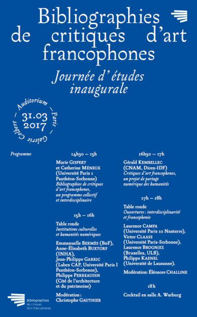 Bibliographie des critiques d'art francophones