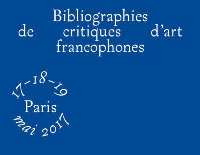 Bibliographies de critiques d'art francophones