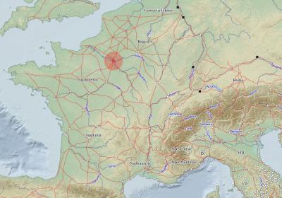 Copie d'écran du site peripleo.pelagios.org