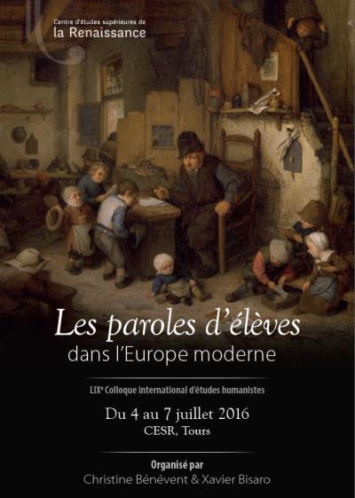 Les paroles d'élèves dans l'Europe moderne