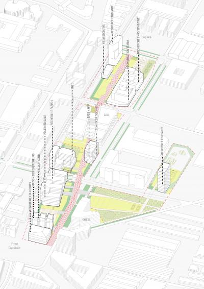 Plan du Campus Condorcet