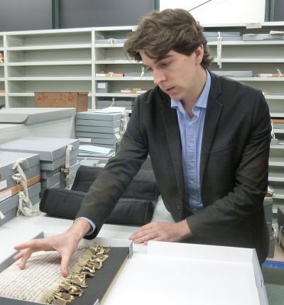 Michaël Bloche aux Archives départementales de la Seine-Maritime