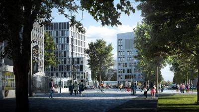 Nouveau quartier du campus Condorcet à Aubervilliers