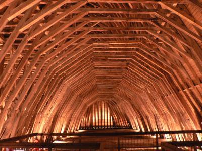 Charpente centrale de l'église St-Girons de Monein