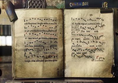 Folio 64v-65r, Chartres 260, Microfilm de l'IRHT