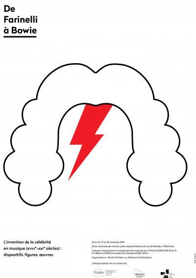 Affiche du colloque «De Farinelli à Bowie»