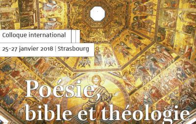 Affiche du colloque «Poésie, bible et théologie de l'Antiquité tardive au Moyen Âge»