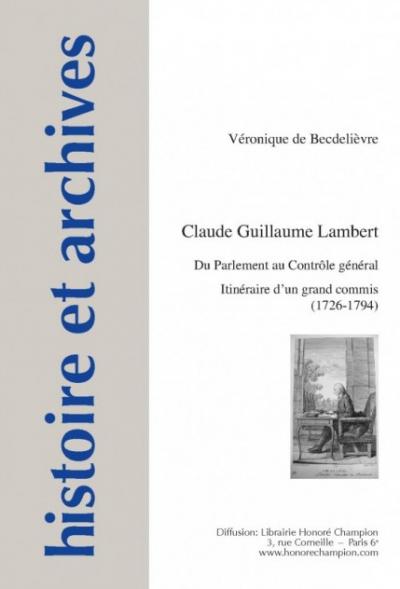 Couverture de l'ouvrage Claude Guillaume Lambert