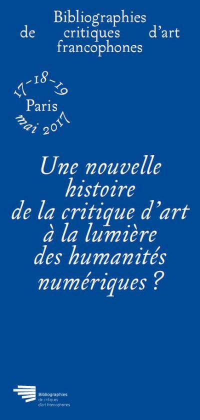 Affiche Bibliographie des critiques d'art francophones