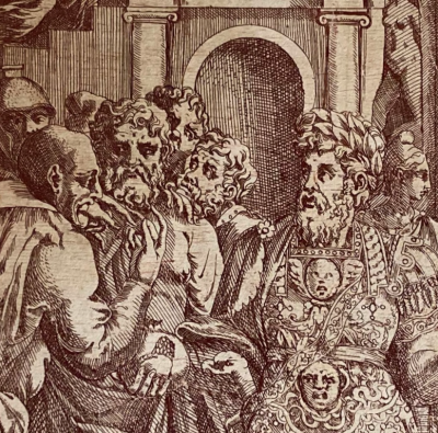 Antonio Fantuzzi d'après Rosso, L'unité de l'État , eau-forte, vers 1543