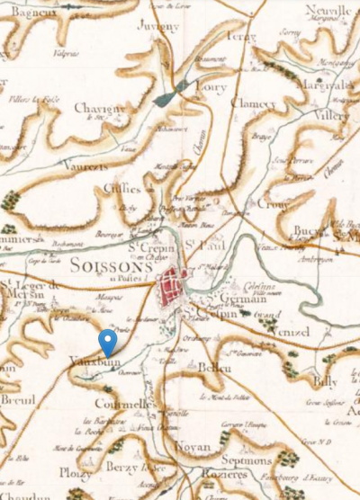 Détail de la carte géohistorique du Dictionnaire topographique de la France