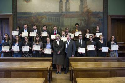 Cérémonie de remise des diplômes 2015 d'archiviste paléographe