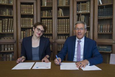 Signature du partenariat entre l'École et le lycée Édouard Branly de Dreux
