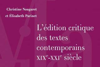 L'édition critique des textes contemporains