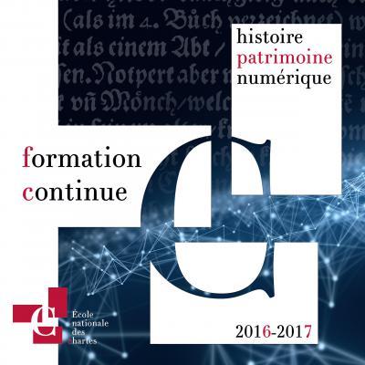 Couverture de la brochure de la formation continue (2ᵉ sem 2016)