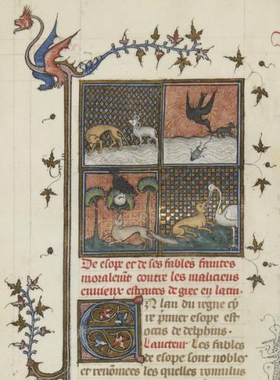 Les fables d'Esope, Bibliothèque de Besançon, Ms 434