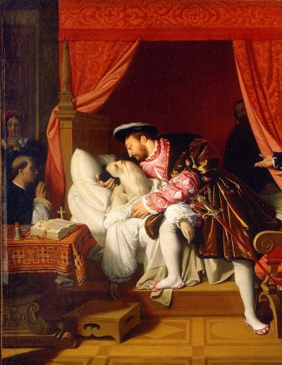 François 1ᵉʳ reçoit les soupirs de Léonard de Vinci par Ingres